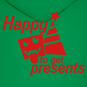 HAPPY to get PRSENTS i hate christmas Hoodies - Men's Hoodie