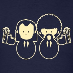 Pulp Fiction Vince & Jules Cartoons T-Shirts
