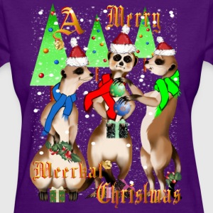 Meerkat Christmas and Snow - Women's T-Shirt