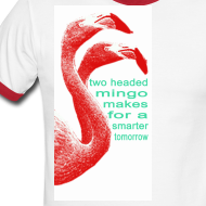 Design ~ Two Headed Mingo Makes for a Smarter Tomorrow Ringer Tee