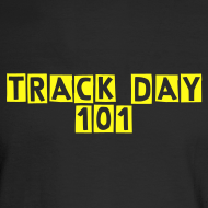 Design ~ Track Day 101 / Simplify: Heavyweight long-sleeve t-shirt- Black w/ Yellow