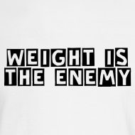 Design ~ Weight is the Enemy/ Simplify: Heavyweight long sleeve t-shirt- White w/ Black