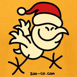 Merry Christmas Chicken T-Shirts - Men's T-Shirt by American Apparel