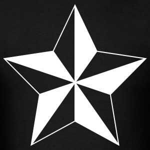 Nautical Star ( Vector Graphic ) - Men's T-Shirt