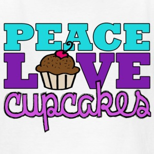 Peace, Love & Cupcakes Kids' Shirts - Kids' T-Shirt