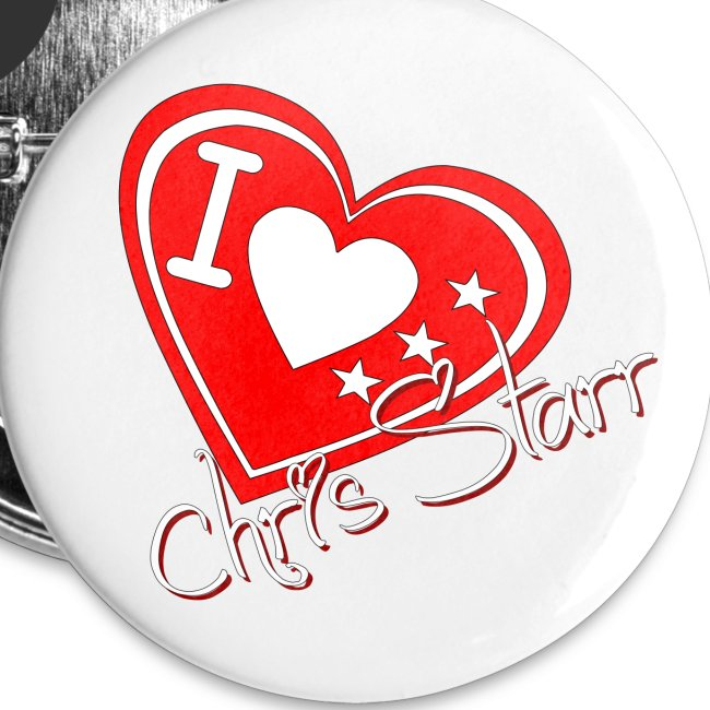 I Love Chris Starr Buttons