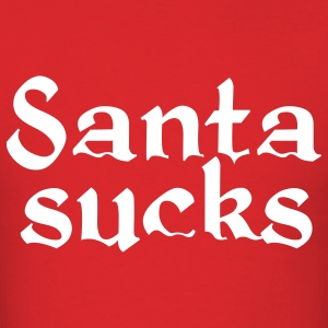Santa sucks Christmas t-shirt - Men's T-Shirt