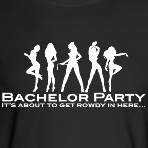 Bachelor Party (White - For Dark Shirts) Long Sleeve Shirts - Men's Long Sleeve T-Shirt