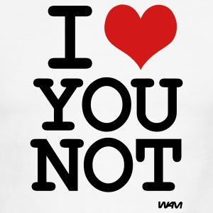 i love you not by wam T-shirts (manches courtes) - T-shirt à bords contrastants pour hommes American Apparel