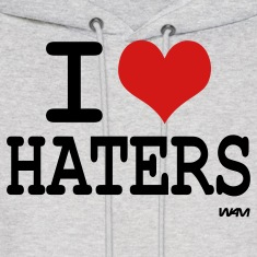 i love haters by wam Hoodies
