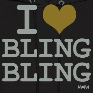 i love bling bling by wam Hoodies - Men's Hoodie