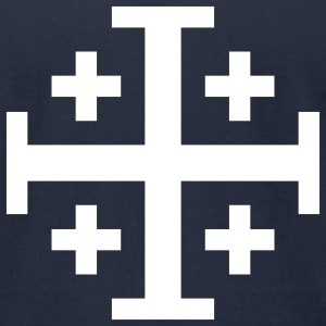 Jerusalem cross T-Shirts - Men's T-Shirt by American Apparel