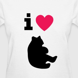 i love bears - women's standard weight t-shirt - Women's T-Shirt