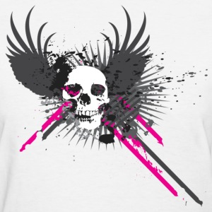 Abstract Skull with Pink Diffusion Women's T-Shirts - Women's T-Shirt
