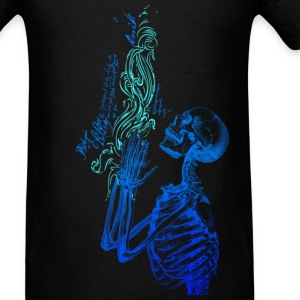 Praying Skeleton Cold ( HD Pixel Design ) - Men's T-Shirt