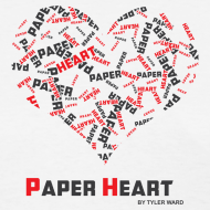 Design ~ Paper Heart Women's Fan T-Shirt