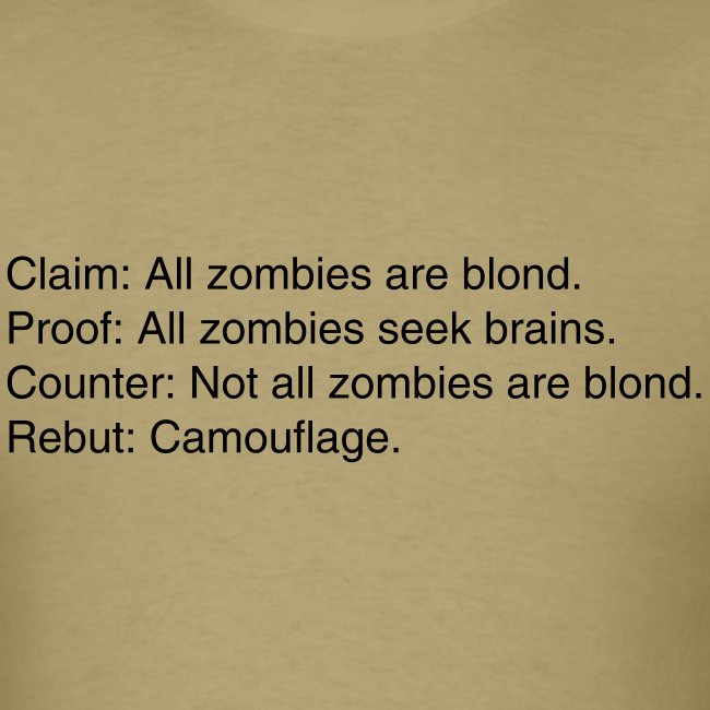 Zombies are blond