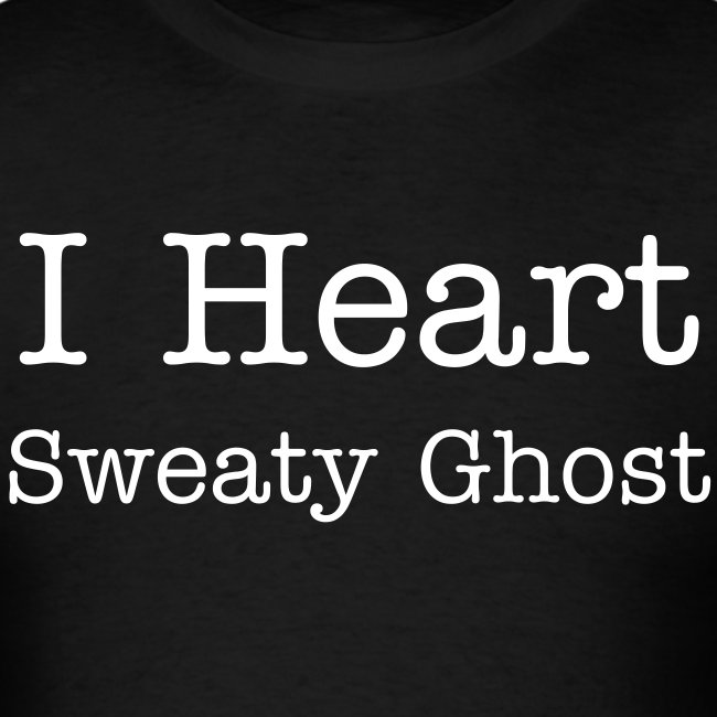 I Heart Sweaty Ghost Mens Shirt