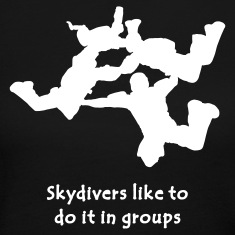 Skydivers Like To Do It In Groups