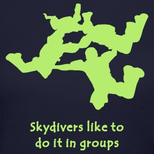 Skydivers Like To Do It In Groups - Women's Long Sleeve Jersey T-Shirt