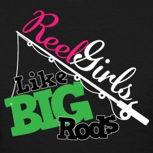 Reel Girls LIke Big Rods (For Dark Shirts) Women's T-Shirts - Women's T-Shirt