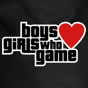 Boys Love Girls Who Game Dog T-Shirts - Dog Bandana