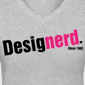 Design Nerd (Female) Women's T-Shirts - Women's V-Neck T-Shirt