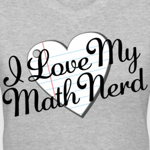 I Love My Math Nerd Women's T-Shirts - Women's V-Neck T-Shirt