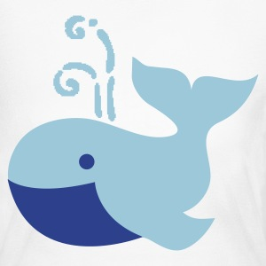 cute plump whale vintage whimsical Long Sleeve Shirts - Women's Long Sleeve Jersey T-Shirt