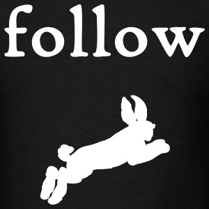 follow the white rabbit - Men's T-Shirt