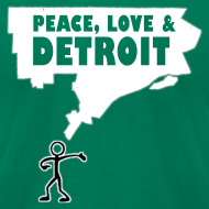 Design ~ Peace, Love and Detroit Men's American Apparel Tee