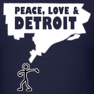 Design ~ Peace, Love and Detroit Men's Standard Weight T-Shirt