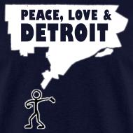 Design ~ Peace, Love and Detroit Men's Standard Weight T-Shirt