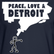 Design ~ Peace, Love and Detroit Men's Long Sleeve Tee
