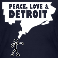 Design ~ Peace, Love and Detroit Women's Long Sleeve Jersey Tee