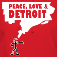 Design ~ Peace, Love and Detroit Women's Hooded Sweatshirt