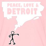 Design ~ Peace, Love and Detroit Children's T-Shirt