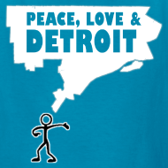 Design ~ Peace, Love and Detroit Children's T-Shirt