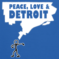Design ~ Peace, Love and Detroit Kid's Hooded Sweatshirt