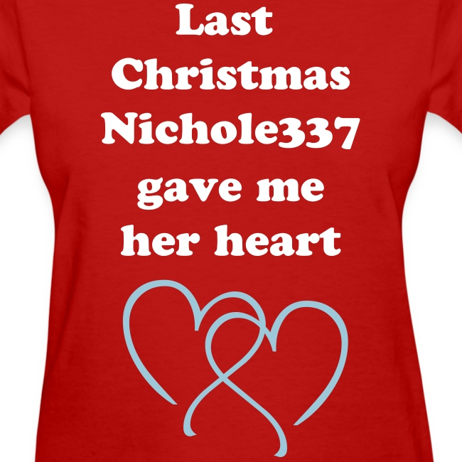 Last Christmas nichole337 gave me her heart GIRLS