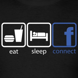 eat sleep connect - Men's T-Shirt