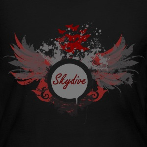 Skydive With Wings Long Sleeve Shirts - Women's Long Sleeve Jersey T-Shirt
