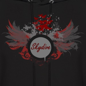 Skydive With Wings Hoodies - Men's Hoodie