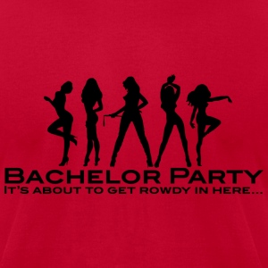 Bachelor Party T-Shirts - Men's T-Shirt by American Apparel