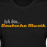 Design ~ Deutsche Musik Womens Tshirt Black