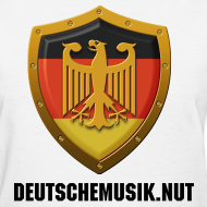 Design ~ DeutscheMusik.nut Womens Tshirt White
