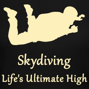 Skydiving Life's Ultimate High Long Sleeve Shirts - Women's Long Sleeve Jersey T-Shirt