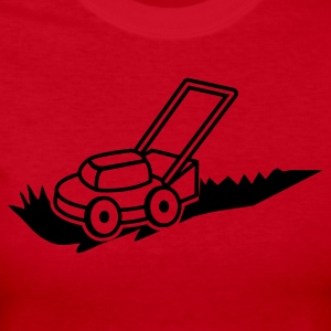 lawn mower mowing contractor cutting grass Long Sleeve Shirts - Women's Long Sleeve Jersey T-Shirt