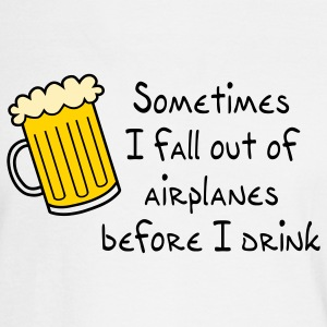 Sometimes I Fall Out Of Airplanes - Men's Long Sleeve T-Shirt