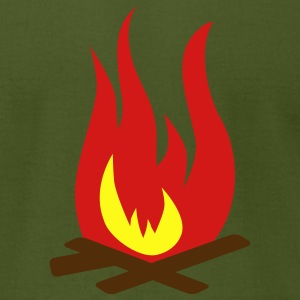 Fire campfire T-Shirts - Men's T-Shirt by American Apparel